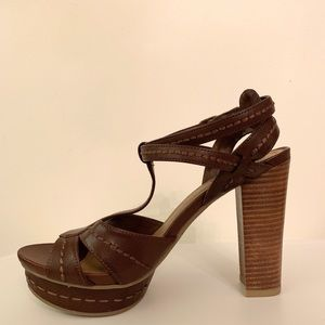 High-Heeled, Block Sandals